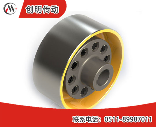 LTZ type elastic sleeve pin coupler with brake wheel