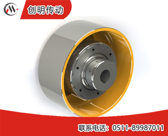 HLL type elastic pin coupler with brake wheel