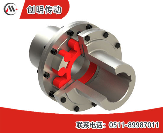 LMS type elastic coupler with plum shape